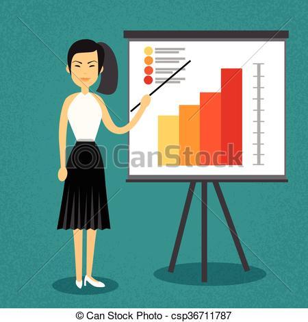 Asians clipart businesswoman Chart Woman Flip Flip csp36711787