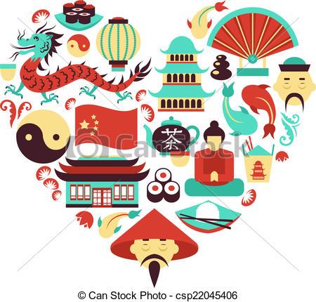 Asians clipart china China  symbols heart symbols