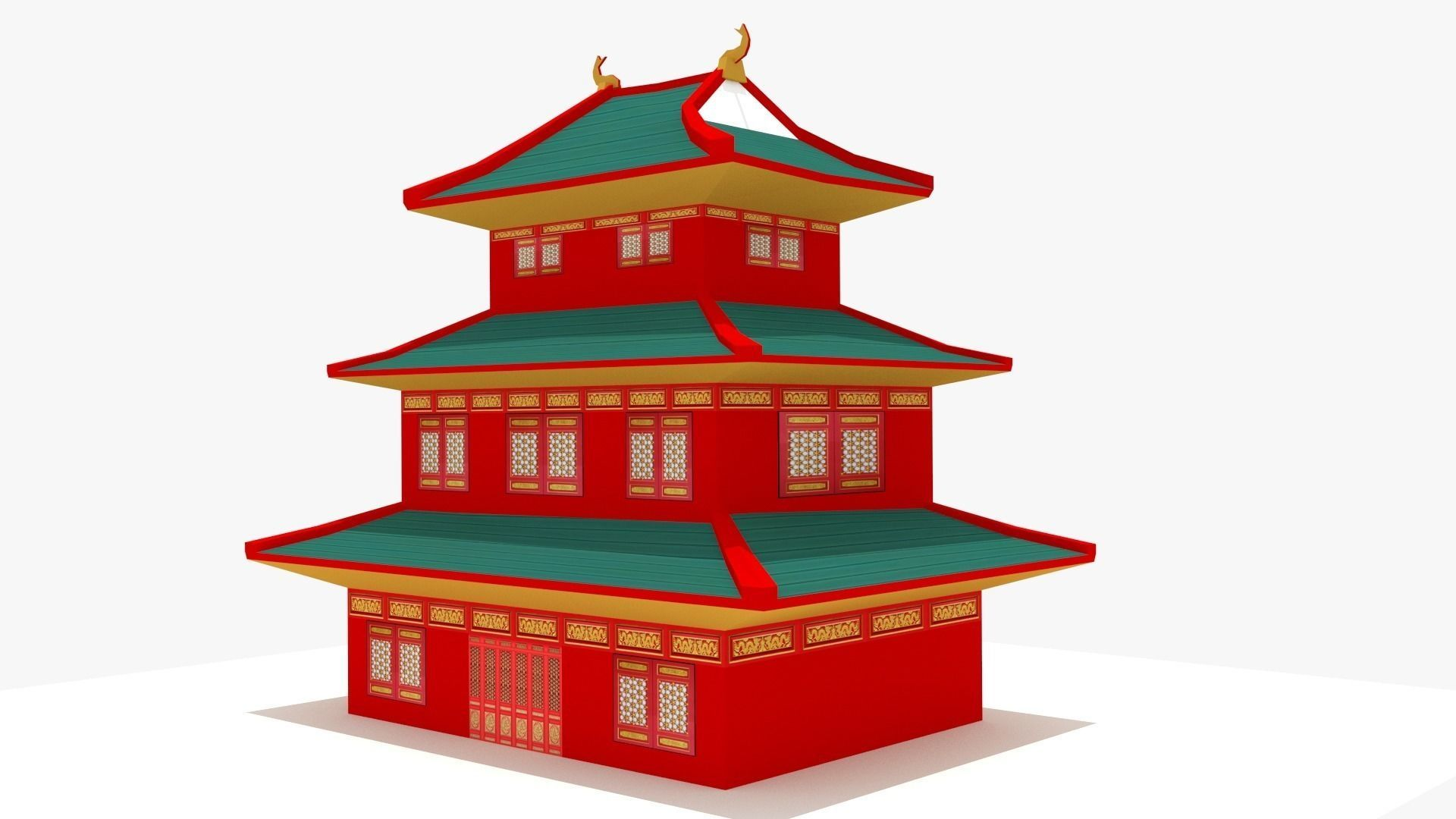 Asian clipart chinese building Blend 3d Asian / max