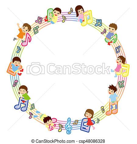 Asians clipart circle Musical Musical score circle kids