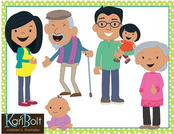 Asians clipart family 4 Art Clip Kari Clip Teachers