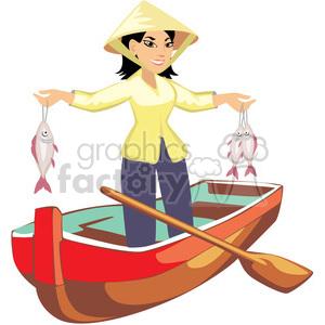 Asians clipart fisherman Image fishing asian female art