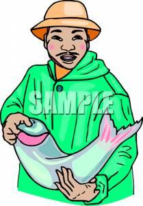 Asians clipart fisherman  Clipart a Holding Cartoon