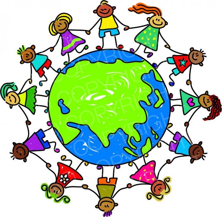 Asians clipart globe Children Clipart Children World Art