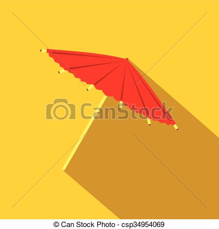 Asians clipart parasol Csp34954069 umbrella flat icon or