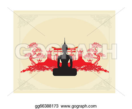 Asians clipart silhouette A Stock Vector Art Silhouette