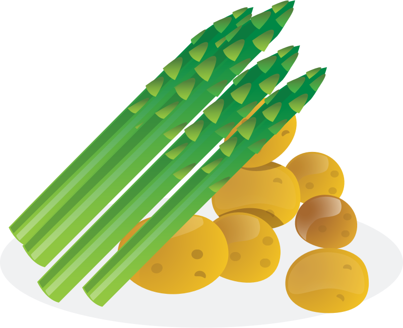 Asparagus clipart black and white Clipart IMAGE MEDIUM Asparagus (PNG)