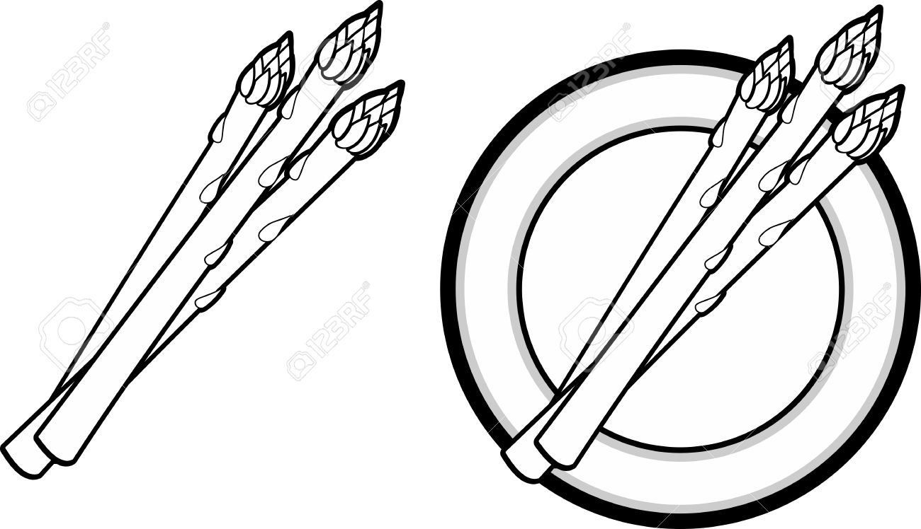 Asparagus clipart black and white And BITNOTE black clipart Clipart