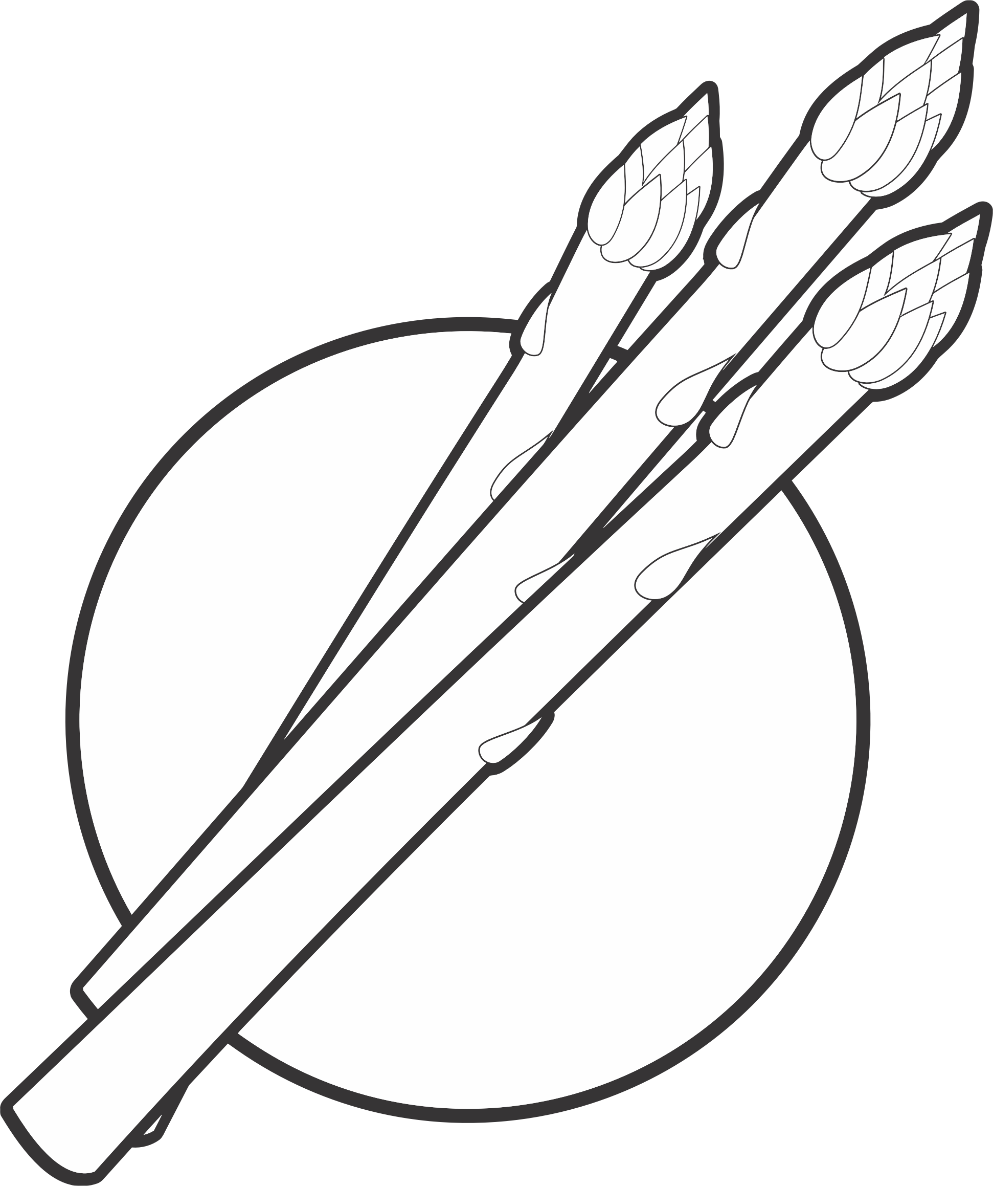 Asparagus clipart black and white Line Art White Gallery Asparagus