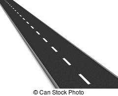 Asphalt clipart curved road 3d road road Stock over