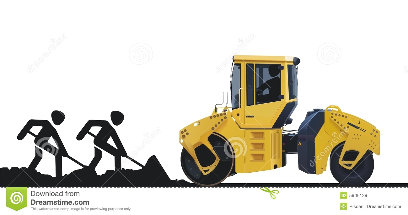 Asphalt clipart road construction Paving Asphalt Roller cliparts Clipart