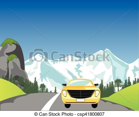 Asphalt clipart car road Mountain road mountain  Car