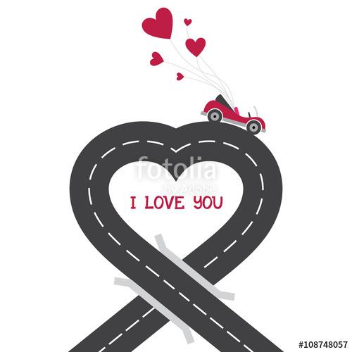 Asphalt clipart city road Map car Romantic road road