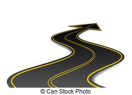 Asphalt clipart curvy road Illustration Road Shape and Road