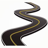Drawn road curvy Curved Abstract Road Graphics Clipart