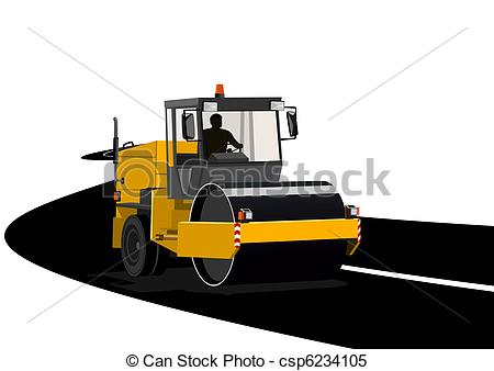 Asphalt clipart road construction Asphalting Road Asphalting csp6234105 roads