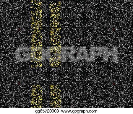 Asphalt clipart road marking On line markings the vector