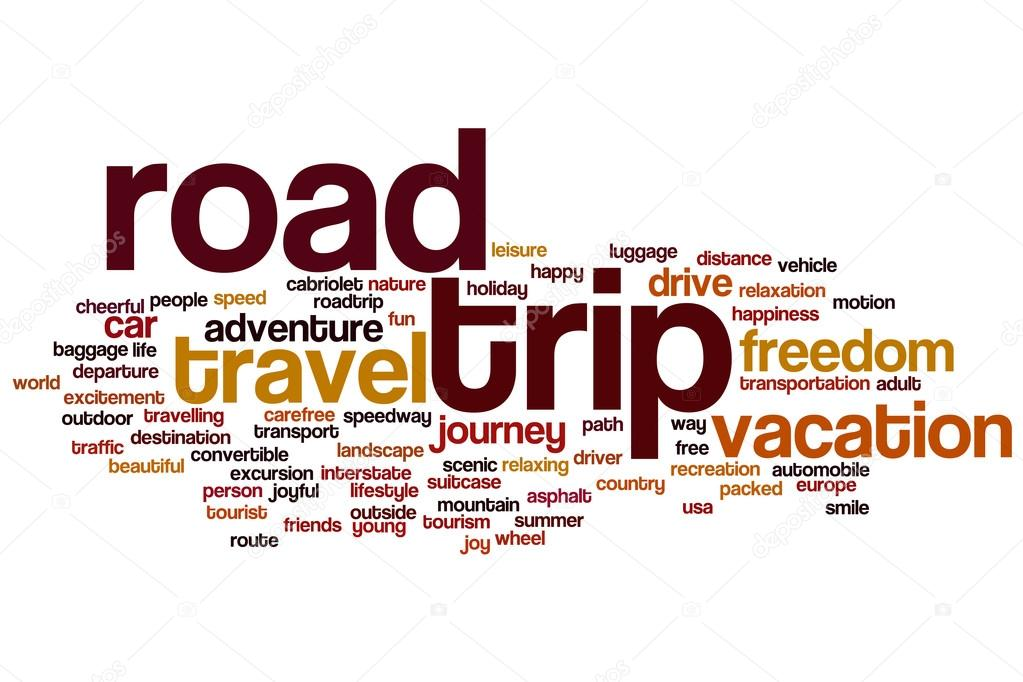 Asphalt clipart road trip Word word trip #101250076 cloud