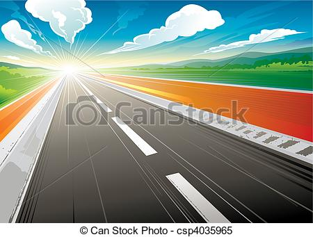 Asphalt clipart route Of  at at Clipart