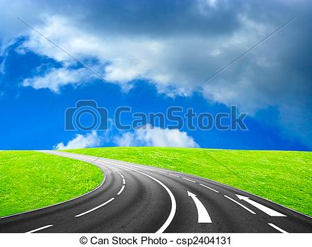 Asphalt clipart route Freeway beautiful blue Illustration of