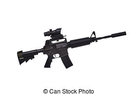 Assault Rifle clipart 1 516 rifle  Illustrations