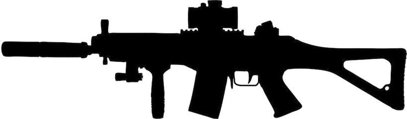 Assault Rifle clipart Military Search by clip rifle