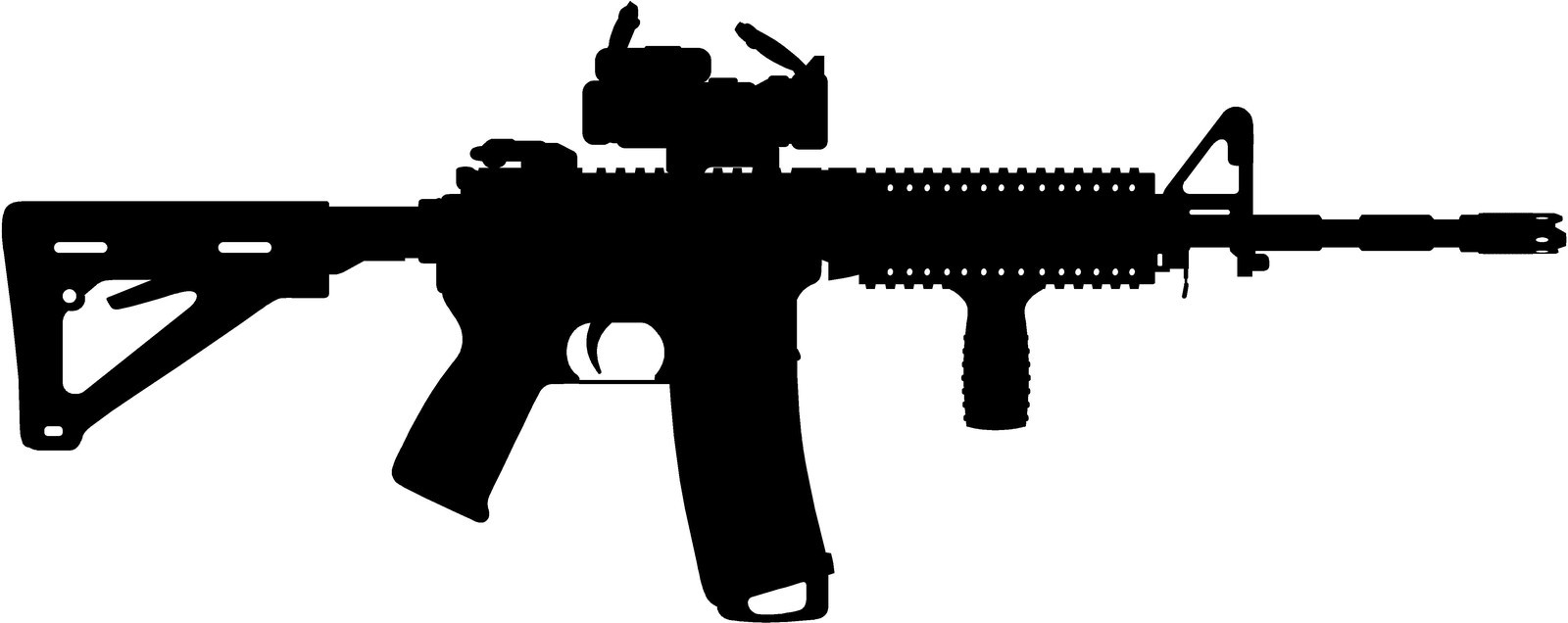 Assault Rifle clipart  Ar ar15 art Clipart