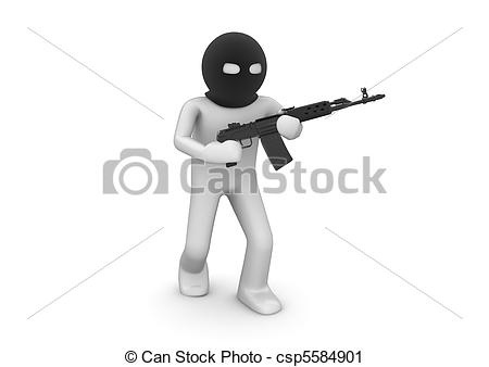 Assault Rifle clipart animated Clipart Terrorist automatic csp5584901 with