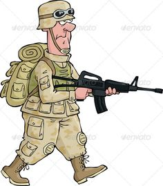 Assault Rifle clipart animated Holding Man A Look With