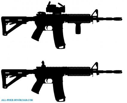 Assault Rifle clipart ar 15 Pinterest Silhouette Gun AR Ar15Assault