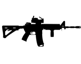 Assault Rifle clipart ar 15 Vinyl Etsy Ar 15 Decal