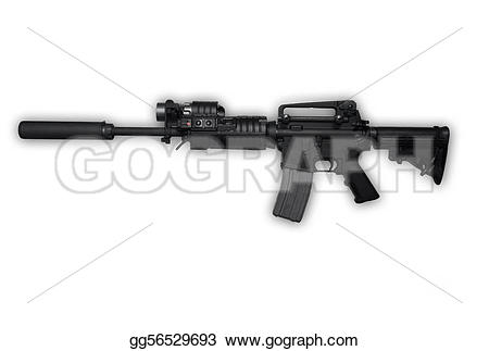 Assault Rifle clipart assult On rifle isolated Ak47 Clipart