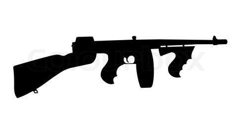 Assault Rifle clipart gun silhouette #7