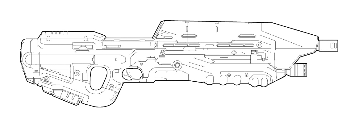 Drawn rifle Series; 4 Halo This: Weapons