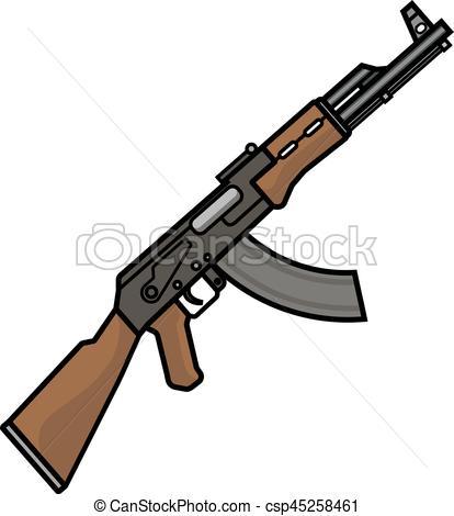 Assault Rifle clipart machine gun #7