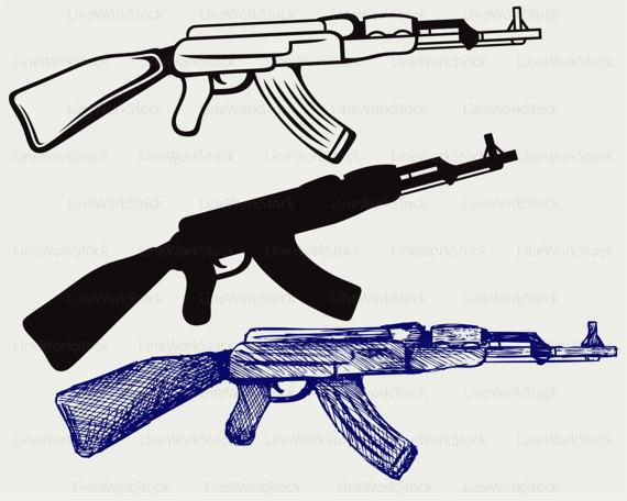 Assault Rifle clipart machine gun #4