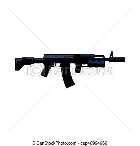 Assault Rifle clipart military Kalashnikov Illustration vector Military csp46994969