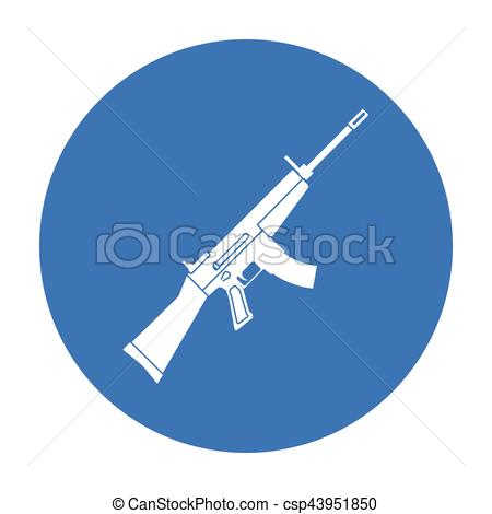 Assault Rifle clipart military  and rifle style black