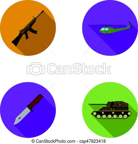 Assault Rifle clipart military Vector tank knife combat helicopter