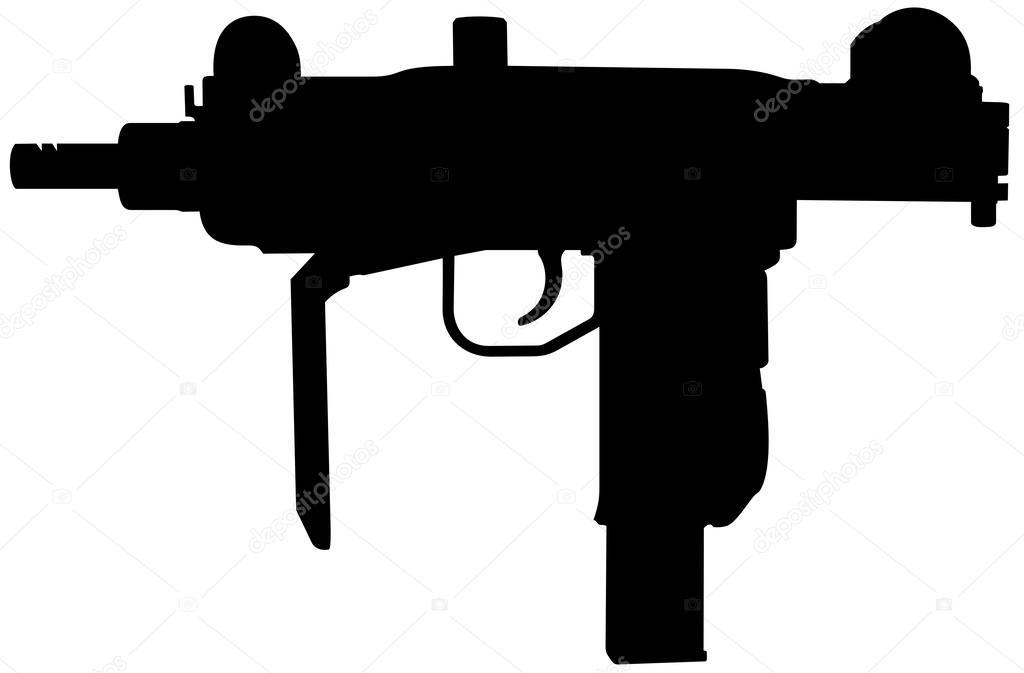 Assault Rifle clipart uzi Uzi Vector Illustrations Uzi —