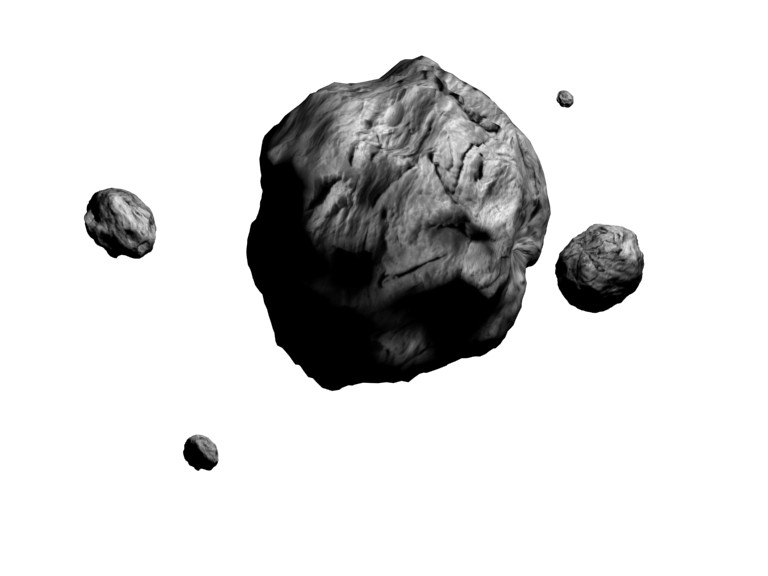 Asteroid clipart sprite STL Asteroid about Searching Icon