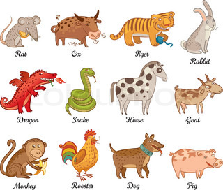Astrology clipart animal Animal astrology Chinese Illustrations Clipart