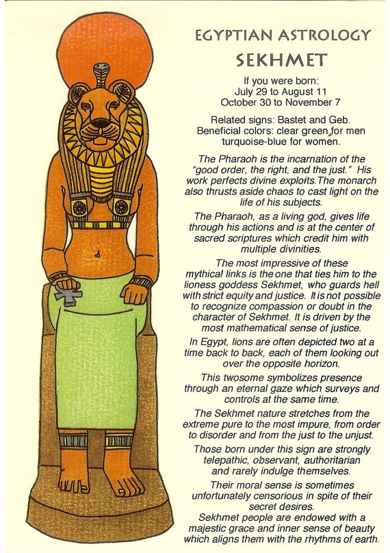 Astrology clipart egyptian Vintage Astrology from Egyptian Astrology