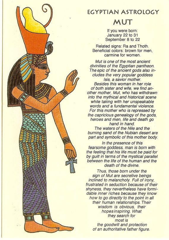 Astrology clipart egyptian Old Antique Egyptian VINTAGE 1265