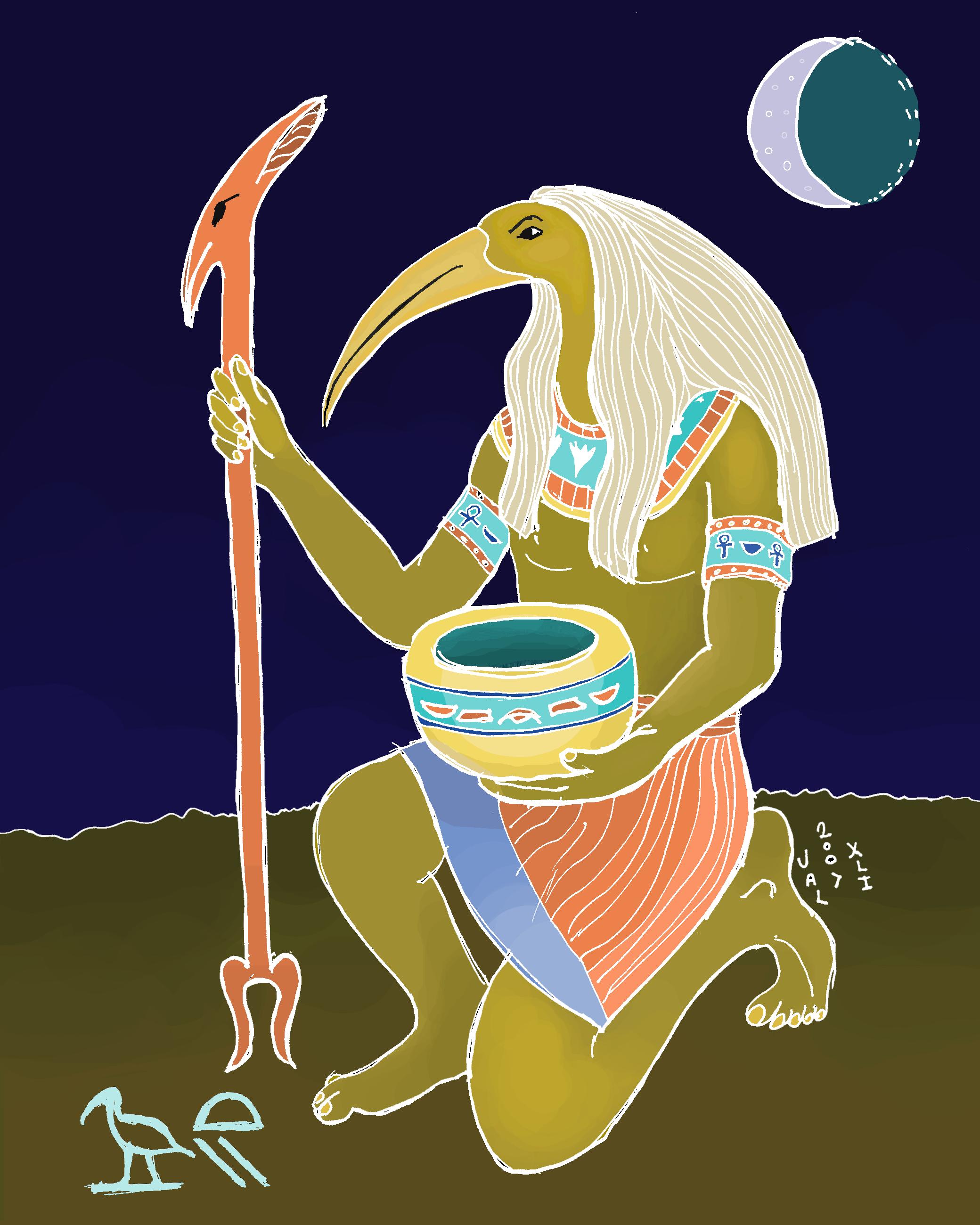Astrology clipart egyptian  Zodiac: Egyptian Sun Thoth
