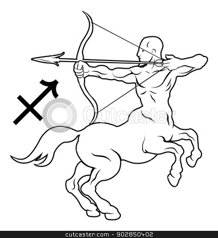 Astrology clipart sagitarius Sagittarius horoscope astrology stock zodiac