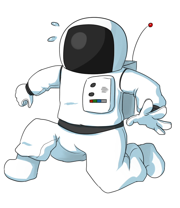 Small clipart astronaut & Domain Panicking Free Cartoon