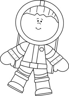 Space clipart black and white Astronaut Free Clipart  Art