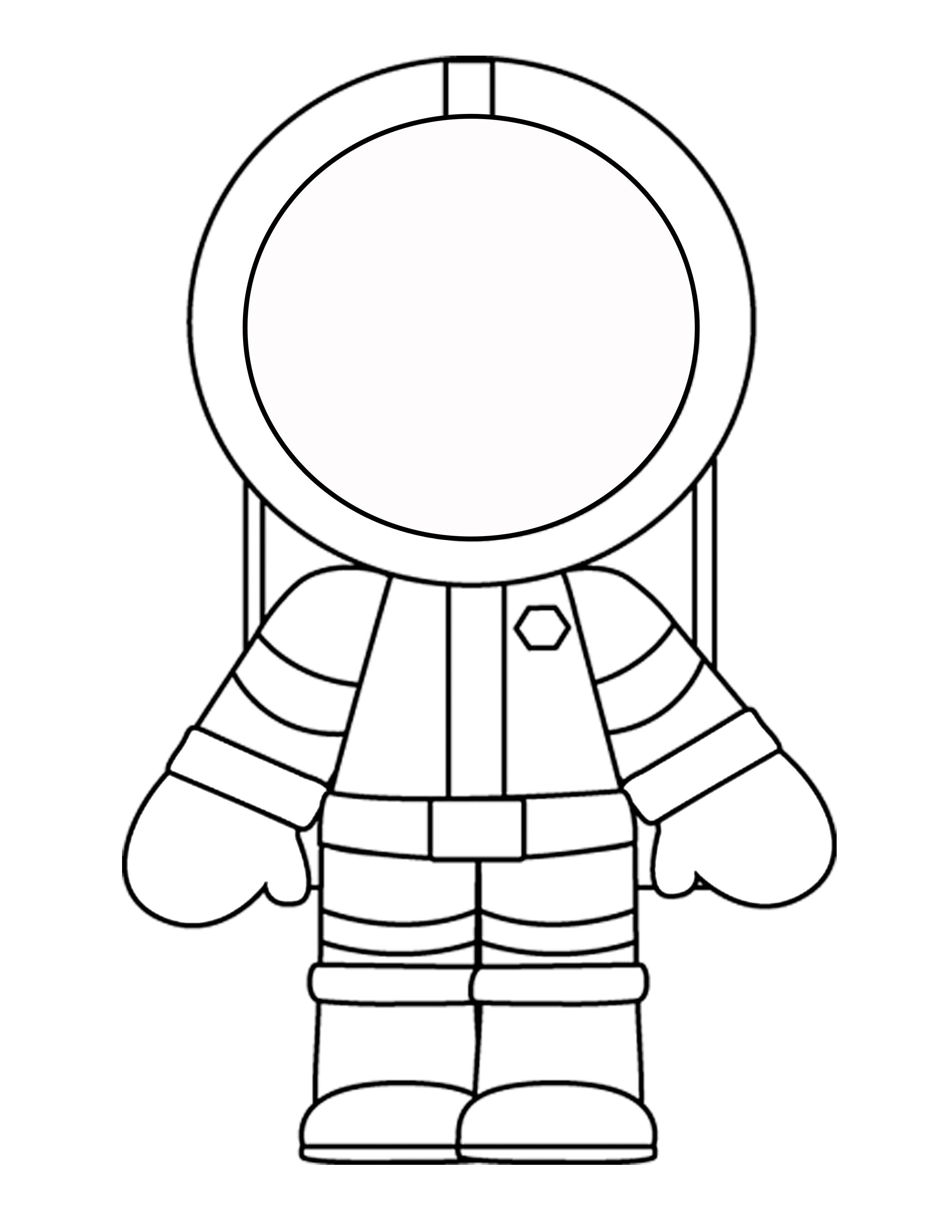 Astronaut clipart blank face Astronauts craft Printable for Astronaut