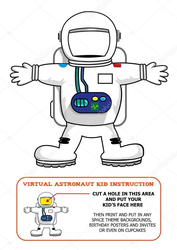 Astronaut clipart blank face For or Astronaut Activity –